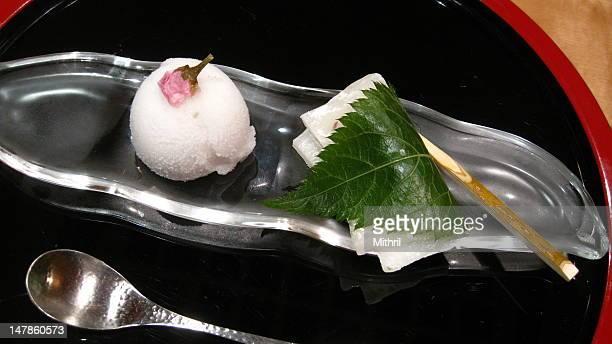 Cherry blossom dessert
