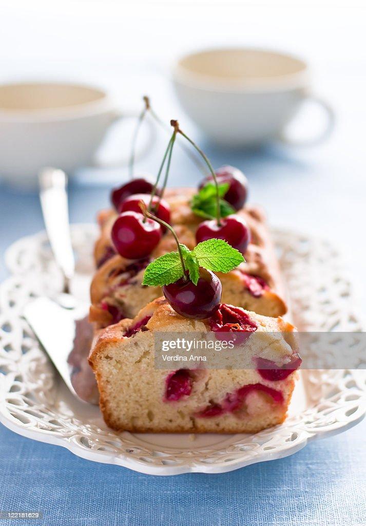 Cherry cake : Stock Photo