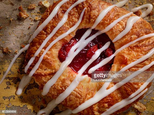 Cherry Danish with Vanilla Icing