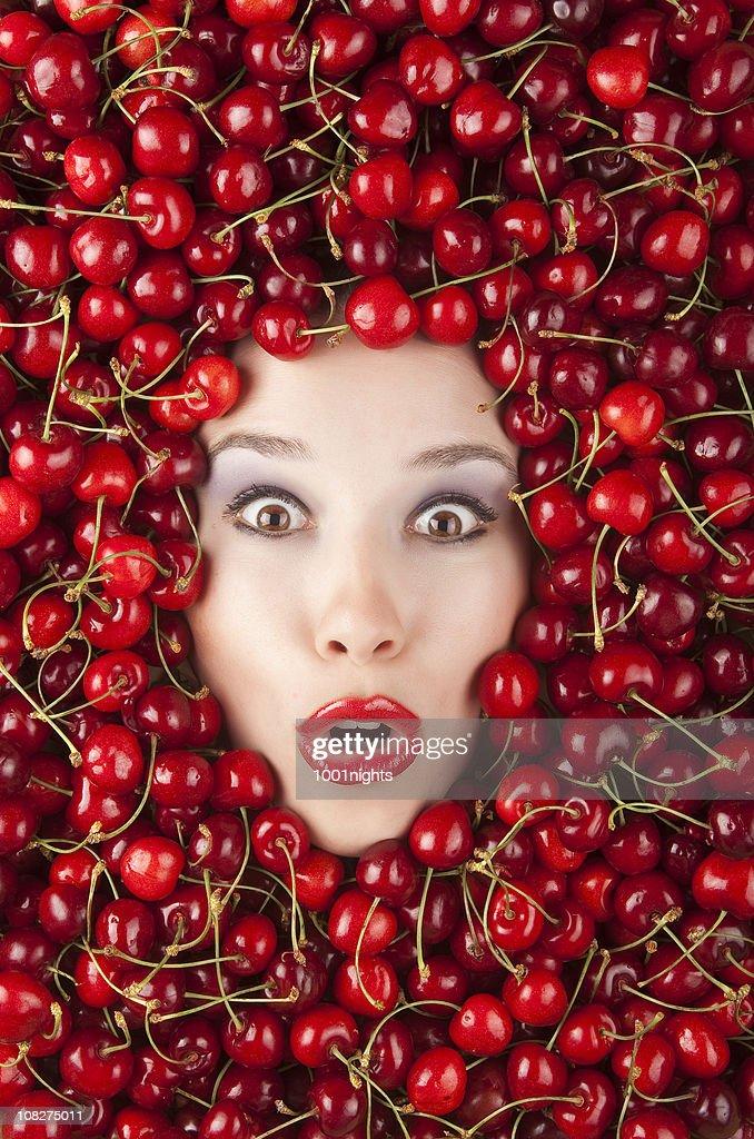 Cherry Girl : Stock Photo
