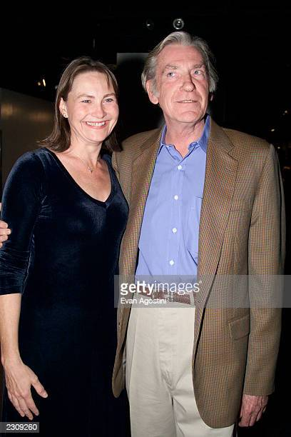 Cherry Jones and David Warner at the opening night party for 'Major Barbara' at the Millenium Hotel in New York City Photo Evan Agostini/ImageDirect