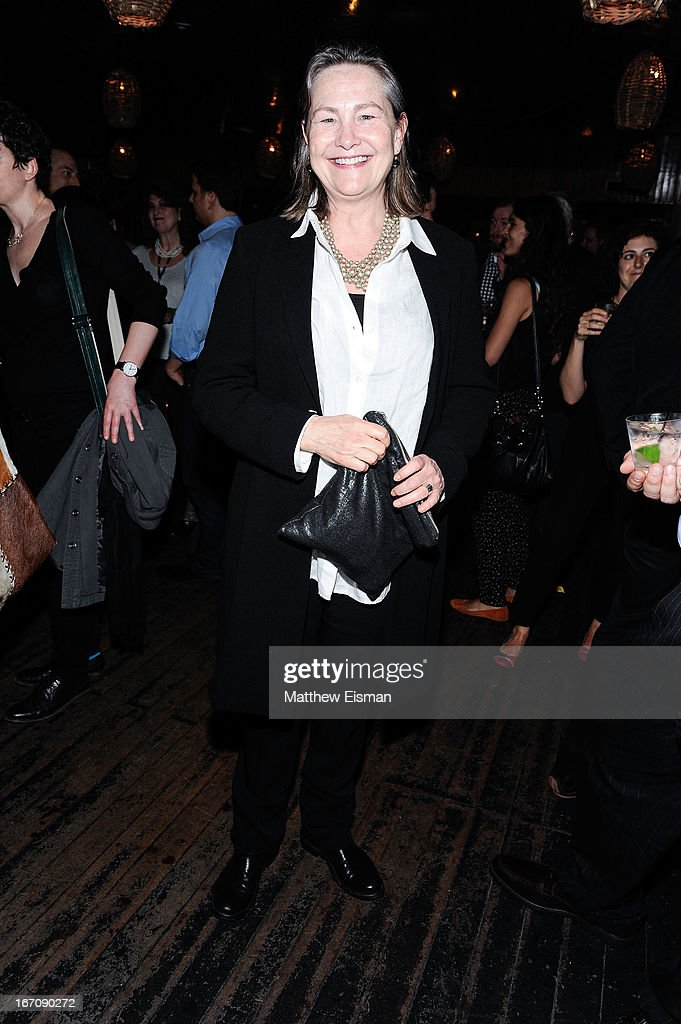 <a gi-track='captionPersonalityLinkClicked' href=/galleries/search?phrase=Cherry+Jones&family=editorial&specificpeople=206500 ng-click='$event.stopPropagation()'>Cherry Jones</a> attends the 'Elaine Stritch: Shoot Me' after party during the 2013 Tribeca Film Festival at Maritime Hotel on April 19, 2013 in New York City.