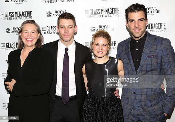 Cherry Jones Brian J Smith Celia KeenanBolger and Zachary Quinto attend the Broadway Opening Night After Party for 'The Glass Menagerie' at the...
