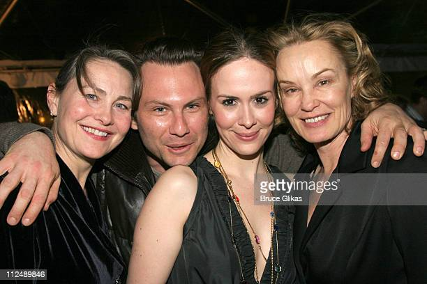 Cherry Jones Christian Slater Sarah Paulson and Jessica Lange