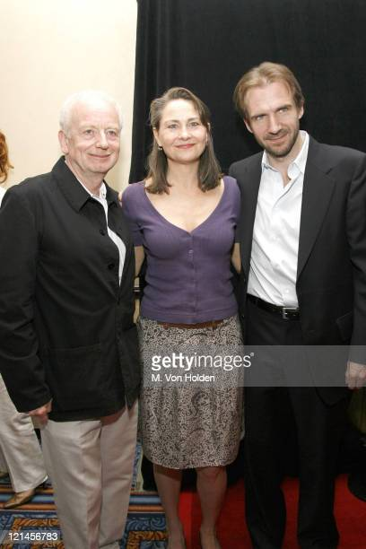 Cherry Jones Ralph Fiennes during 72nd Annual Drama League Awards Ceremony and Luncheon at Marriott Marquis Hotel in New York NY United States
