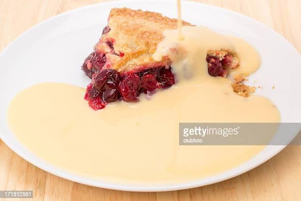 Cherry pie and custard