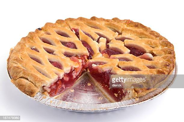 cherry pie with piece missing