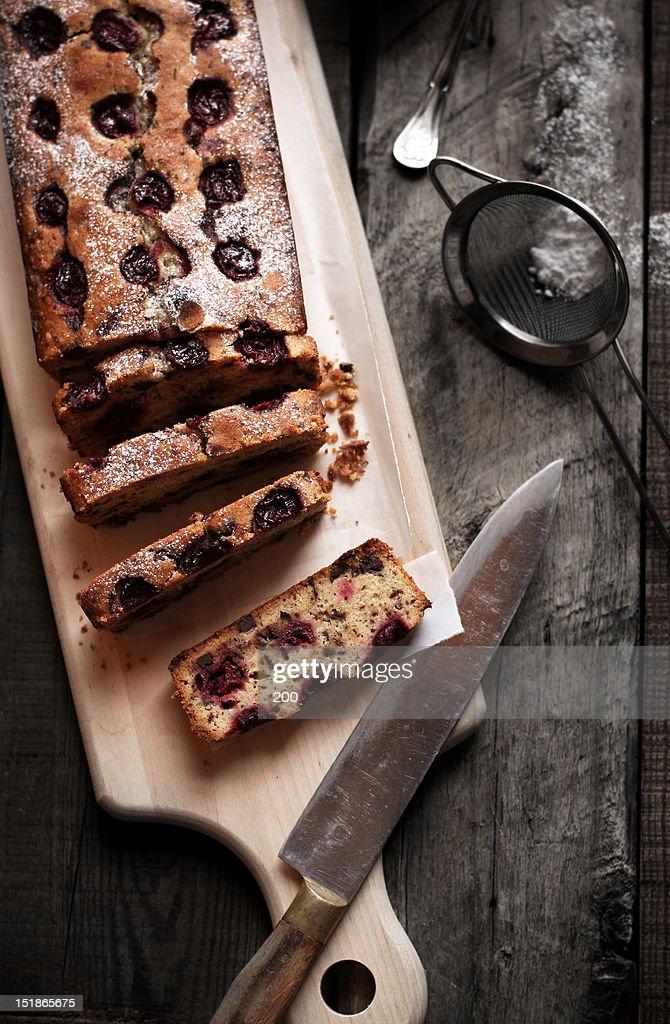 Cherry pound cake : Stock Photo