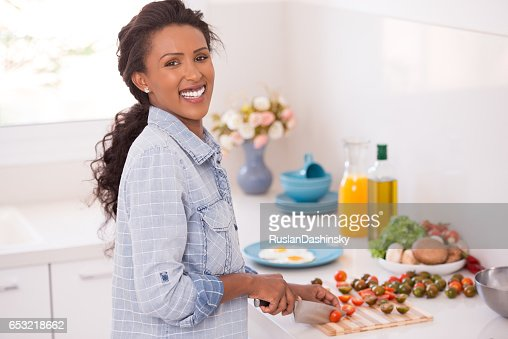 Cherry tomato for breakfast. : Stock Photo