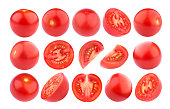 Cherry tomato isolated on white background with clipping path. Collection