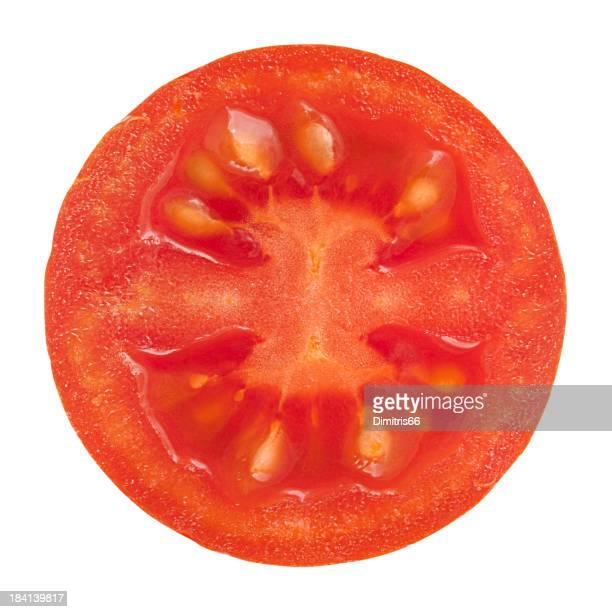 Cherry tomato portion on white