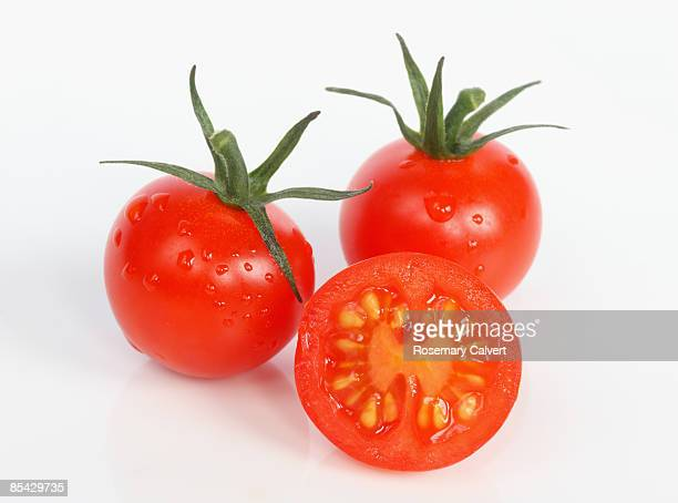 Cherry tomatoes in close up