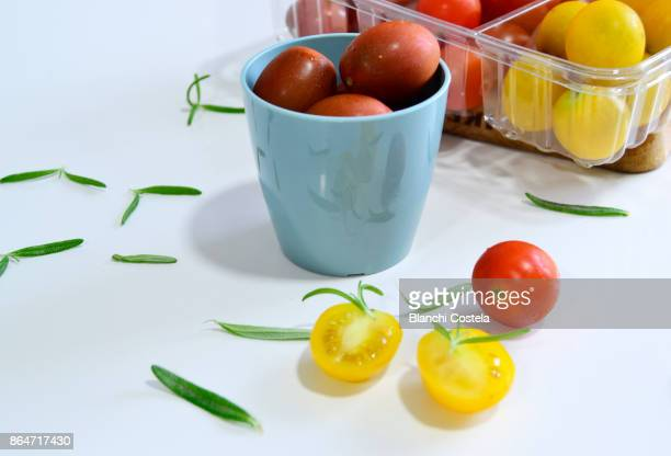 Cherry tomatoes of different colors