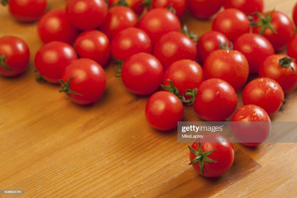 Tomate Cereja : Foto de stock
