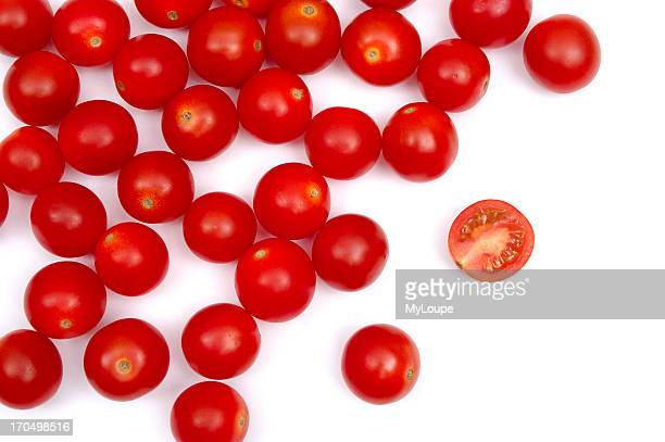 Cherry Tomatoes With One Cut Into Half