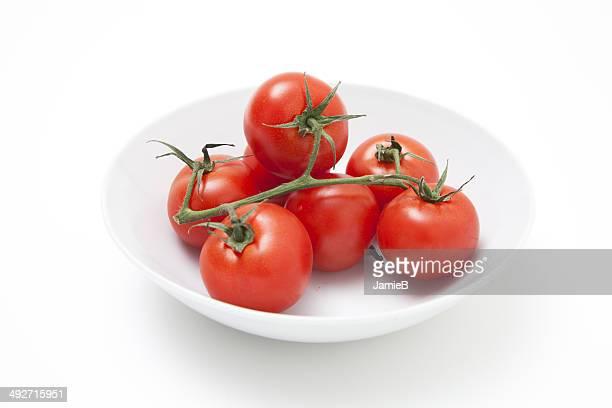 Cherry Tomato's on a white plate
