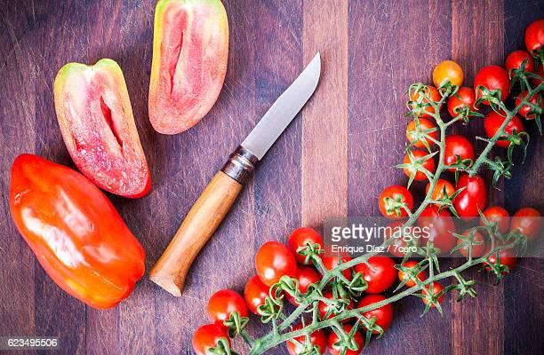 Cherry tomatos on the vine