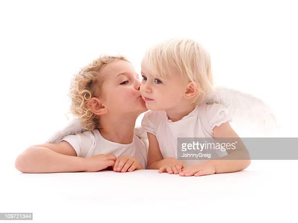 Cherub Angels Kissing