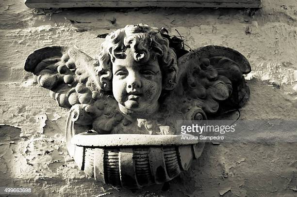 Cherub at a house façade