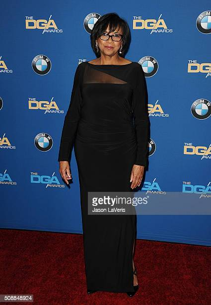 Cheryl Boone Isaacs attends the 68th annual Directors Guild of America Awards at the Hyatt Regency Century Plaza on February 6 2016 in Los Angeles...