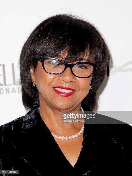 Cheryl Boone Isaacs attends the MakeUp Artists and Hair Stylists Guild Awards at Paramount Studios on February 20 2016 in Hollywood California