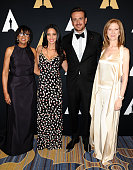 Cheryl Boone Isaacs Jason Segel Olivia Munn and Dawn Hudson attend the Academy of Motion Picture Arts and Sciences' Scientific and Technical Awards...