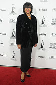 Cheryl Boone Isaacs president of the Academy of Motion Picture Arts and Sciences arrives at the MakeUp Artists And Hair Stylists Guild Awards at...