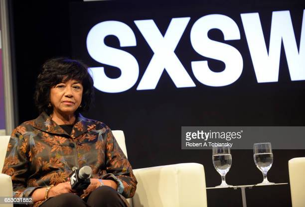 Cheryl Boone Isaacs President of the Academy of Motion Picture Arts and Sciences speaks onstage at 'A Conversation with Cheryl Boone Isaacs' during...
