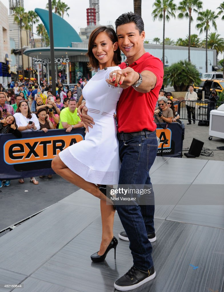 Cheryl Burke, Andi Dorfman, Andrew Luck, And Amy Paffrath On Extra