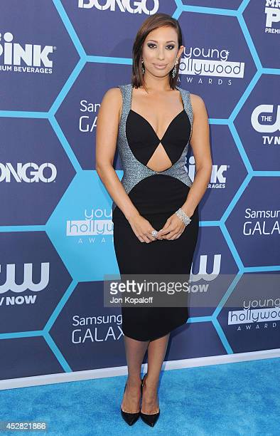 Cheryl Burke arrives at the 16th Annual Young Hollywood Awards at The Wiltern on July 27 2014 in Los Angeles California