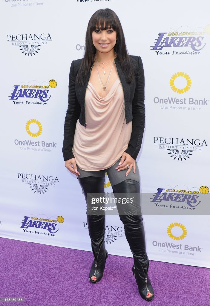 Cheryl Burke arrives at the Lakers Casino Night at Club Nokia on March 10, 2013 in Los Angeles, California.