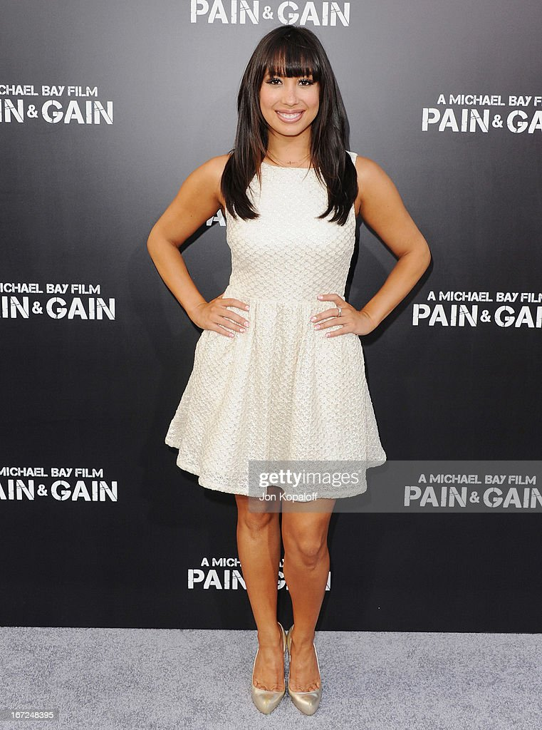 Cheryl Burke arrives at the Los Angeles Premiere 'Pain & Gain' at TCL Chinese Theatre on April 22, 2013 in Hollywood, California.