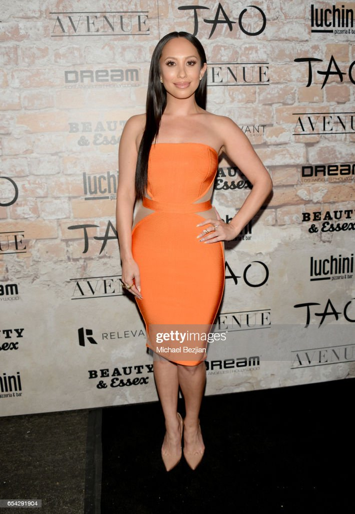 Cheryl Burke attends day one of TAO, Beauty + Essex, Avenue + Luchini LA Grand Opening on March 16, 2017 in Los Angeles, California.