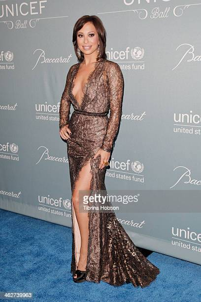 Cheryl Burke attends the 2014 UNICEF ball presented by Baccarat at Regent Beverly Wilshire Hotel on January 14 2014 in Beverly Hills California