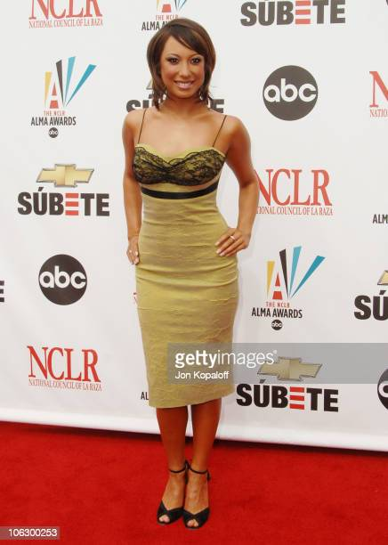 Cheryl Burke during 2007 NCLR ALMA Awards Arrivals at Pasadena Civic Center in Pasadena California United States