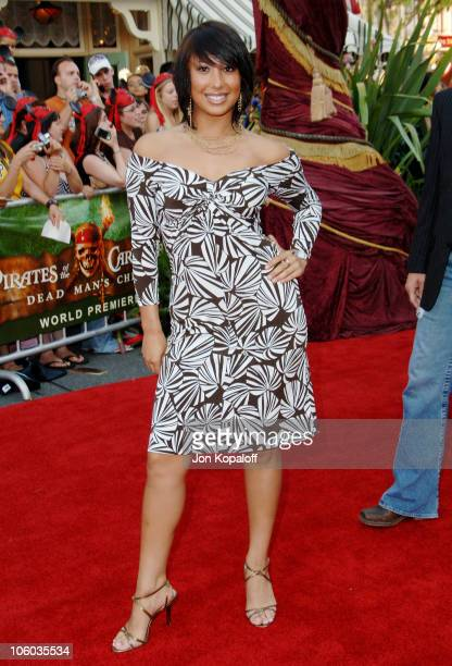 Cheryl Burke during 'Pirates of the Caribbean Dead Man's Chest' Los Angeles Premiere Arrivals at Disneyland/Main Street in Anaheim California United...