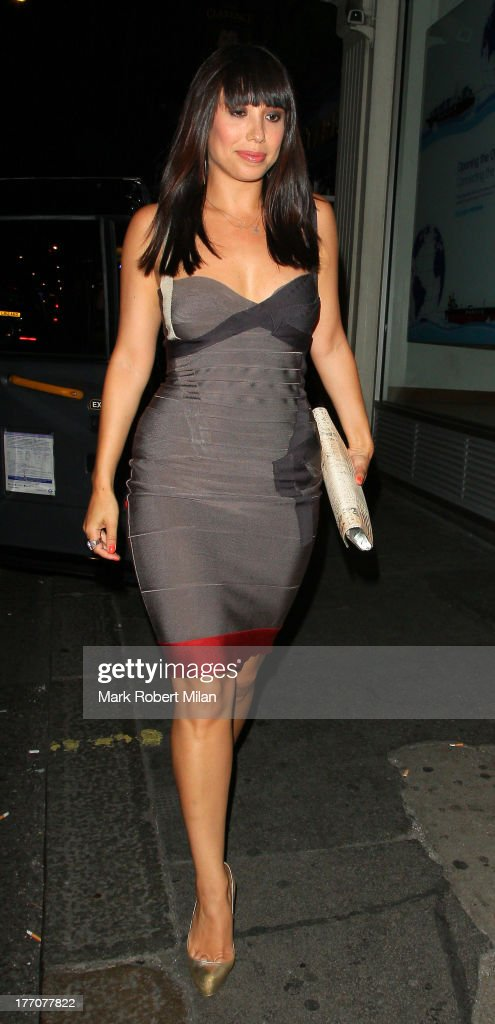 Cheryl Burke leaving the Radio bar on August 20, 2013 in London, England.
