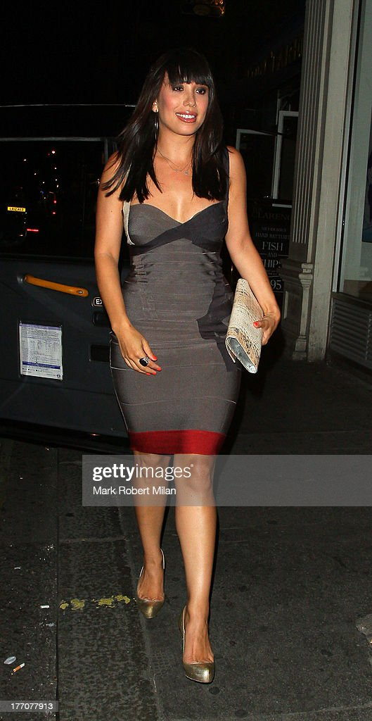 <a gi-track='captionPersonalityLinkClicked' href=/galleries/search?phrase=Cheryl+Burke&family=editorial&specificpeople=540289 ng-click='$event.stopPropagation()'>Cheryl Burke</a> leaving the Radio bar on August 20, 2013 in London, England.