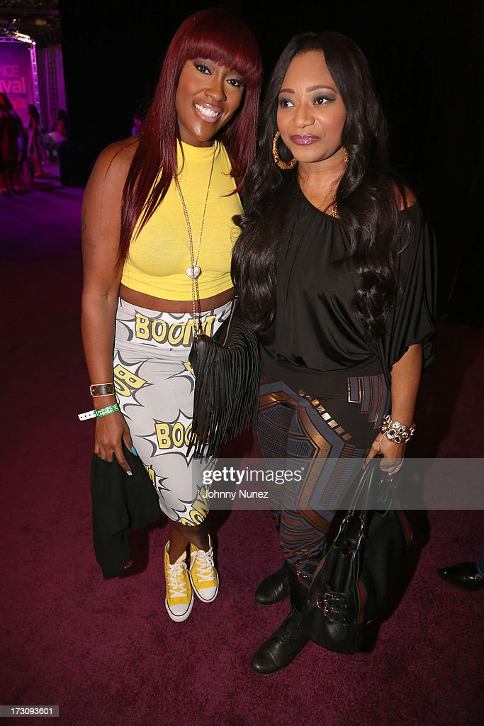 Cheryl Clemons and Leanne 'Lelee' Lyons of SWV attend the 2013 Essence Festival at the Mercedes-Benz Superdome on July 6, 2013 in New Orleans, Louisiana.