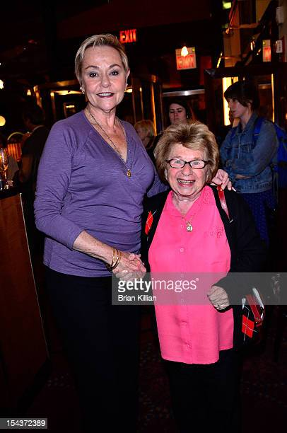 Cheryl Cohen Greene and Dr Ruth Westheimer attend the 'The Sessions' New York Screening dinner at Circo on October 18 2012 in New York City