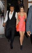 Cheryl Cole and Ashley cole attend Sarah Harding's birthday at Kanaloa Nightclub on November 21 2009 in London England