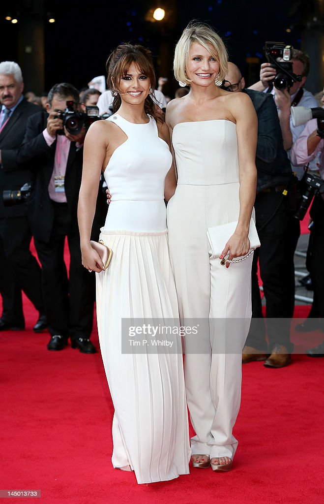 Cheryl Cole and <a gi-track='captionPersonalityLinkClicked' href=/galleries/search?phrase=Cameron+Diaz&family=editorial&specificpeople=201892 ng-click='$event.stopPropagation()'>Cameron Diaz</a> attend the UK film premiere of 'What To Expect When You're Expecting' at BFI IMAX on May 22, 2012 in London, England.