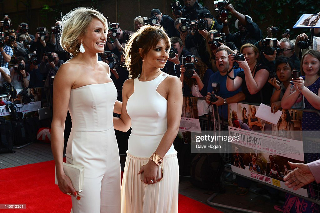 L-R Cheryl Cole and <a gi-track='captionPersonalityLinkClicked' href=/galleries/search?phrase=Cameron+Diaz&family=editorial&specificpeople=201892 ng-click='$event.stopPropagation()'>Cameron Diaz</a> attend the UK premiere of 'What To Expect When You're Expecting' at The BFI IMAX on May 22, 2012 in London, England.