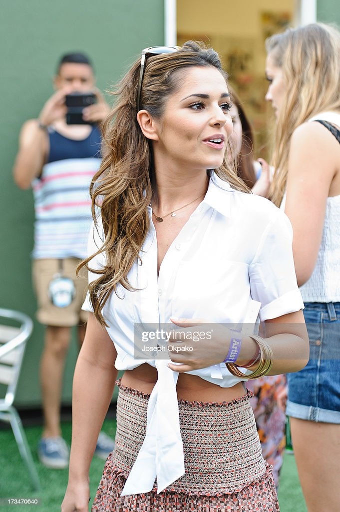 Cheryl Cole attends day 3 of the Yahoo! Wireless Festival at Queen Elizabeth Olympic Park on July 14, 2013 in London, England.
