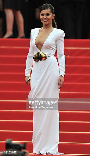 Cheryl Cole attends the 'Habemus Papam' premiere at the Palais des Festivals during the 64th Cannes Film Festival on May 13 2011 in Cannes France