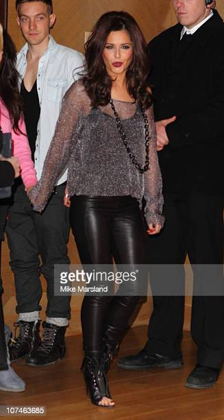 Cheryl Cole attends the press conference ahead of the XFactor final at The Connaught Hotel on December 9 2010 in London England