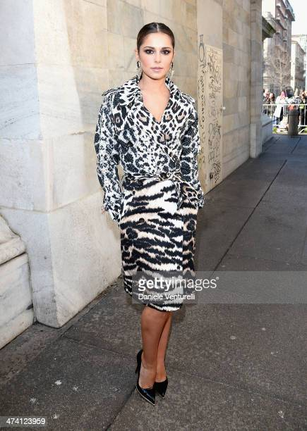 Cheryl Cole attends the Roberto Cavalli show as part of Milan Fashion Week Womenswear Autumn/Winter 2014 on February 22 2014 in Milan Italy