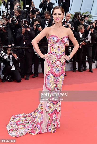 Cheryl Cole attends the 'Slack Bay ' premiere during the 69th annual Cannes Film Festival at the Palais des Festivals on May 13 2016 in Cannes France