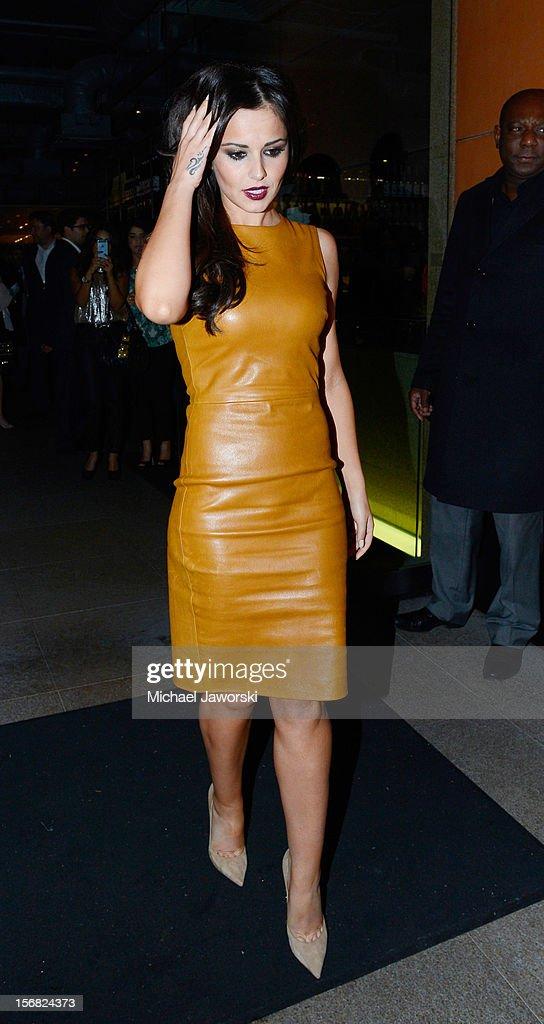 Cheryl Cole leaving Zuma on November 21, 2012 in London, England.
