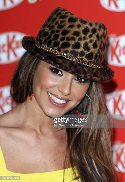 Cheryl Cole of Girls Aloud as the girl band launch the new 'KitKat Senses' bar at the Soho Hotel in central London